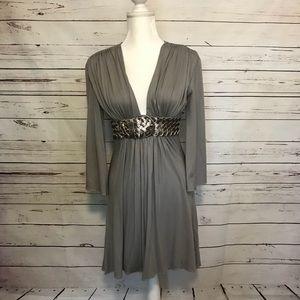 Sky long sleeve mini dress  with belt